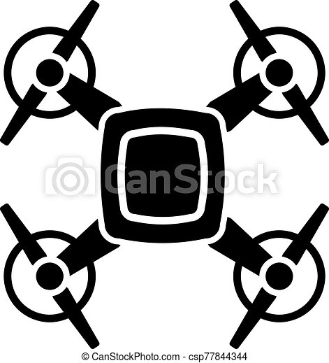 Drone with four propellers icon - csp77844344