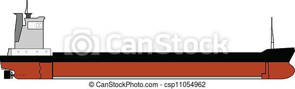 droog, lading, storttransporteur, gearless, scheeps  - csp11054962