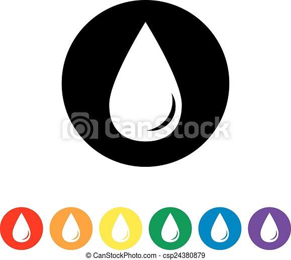 Drop black color icon - csp24380879