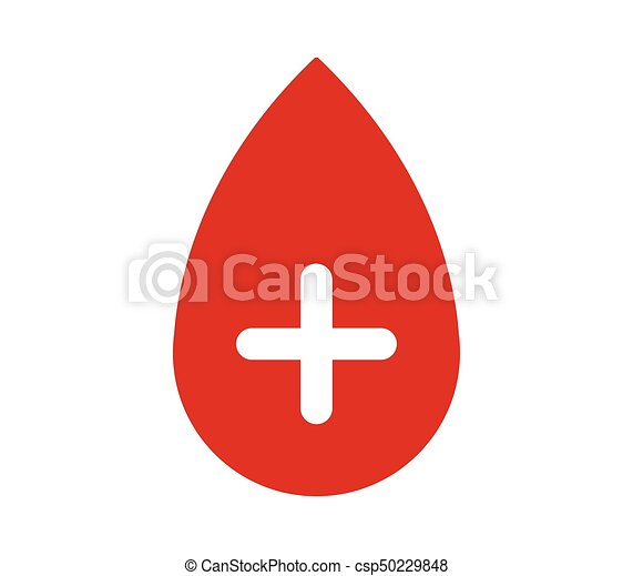 drop blood icon with plus - csp50229848