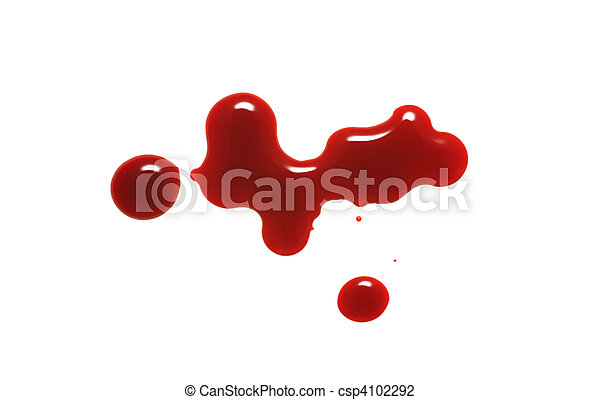 drop of blood isolated on white background - csp4102292