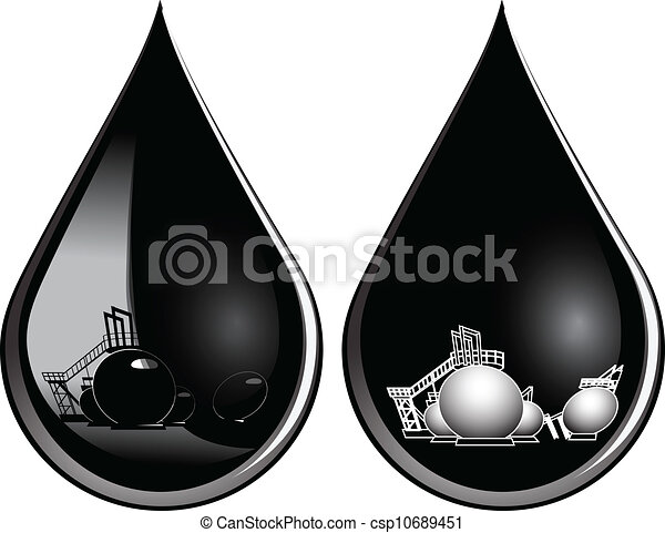 Drop of oil - csp10689451