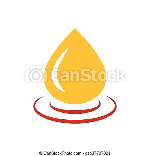 drop of water icon vector yellow and red color - csp37707821