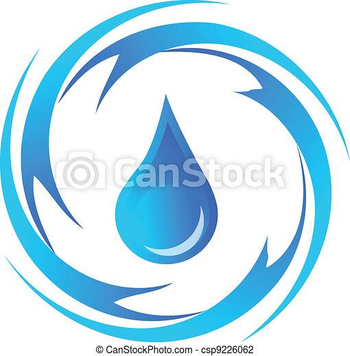 Drop of water logo - csp9226062