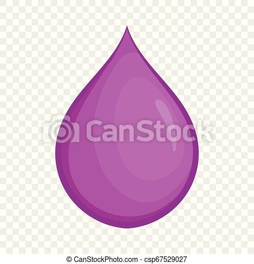 Drop oil icon, cartoon style - csp67529027