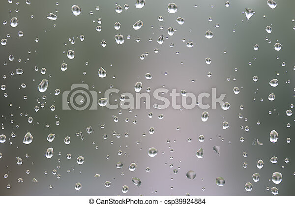 drop on the glass a blurred background - csp39924884