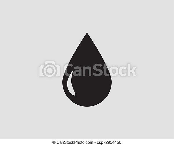 Drop water icon vector isolated design element - csp72954450