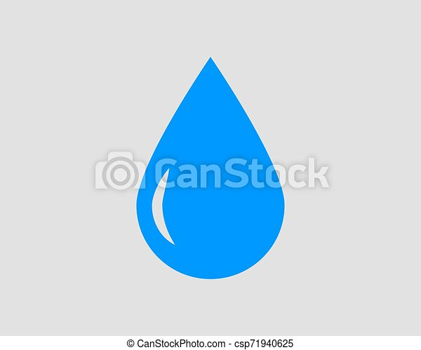Drop water icon vector isolated design element - csp71940625