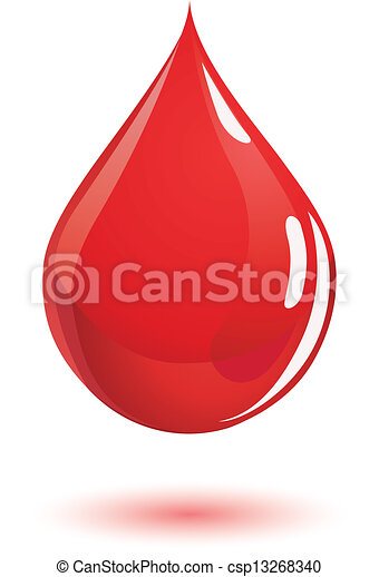 droppe, blod - csp13268340