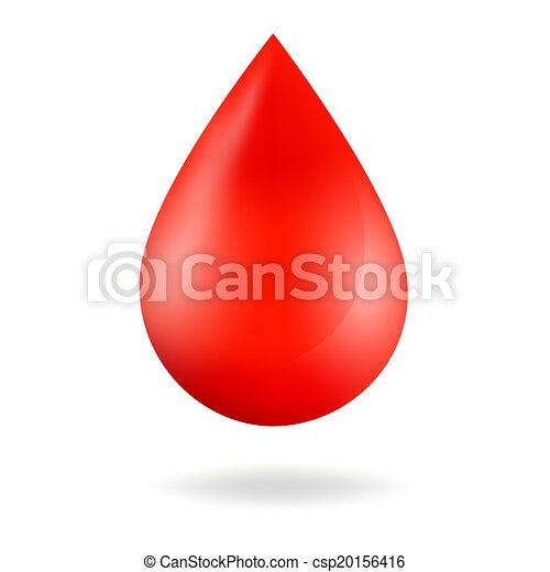 droppe, blod - csp20156416