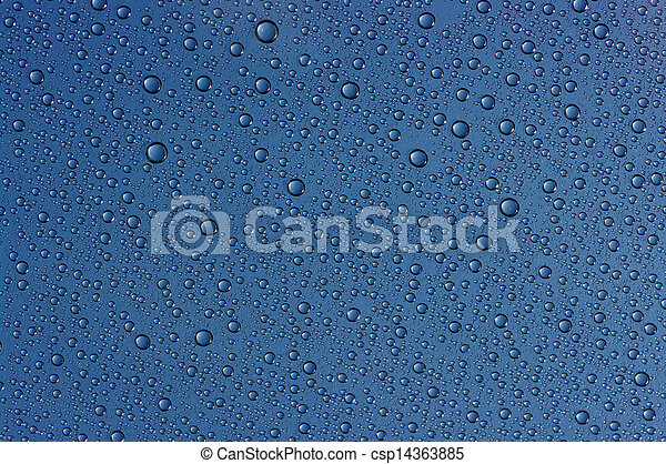 drops on glass - csp14363885