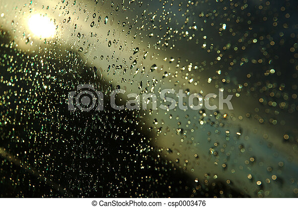 drops on glass - csp0003476