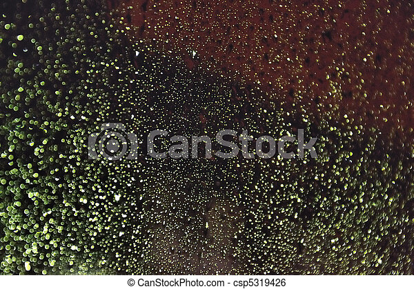 Drops on glass - csp5319426