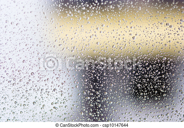 drops on glass - csp10147644