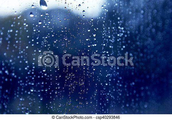 drops on glass - csp40293846