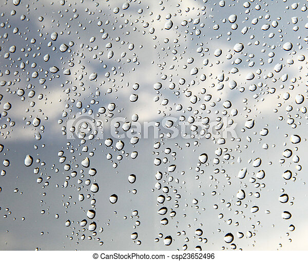 Drops on glass - csp23652496