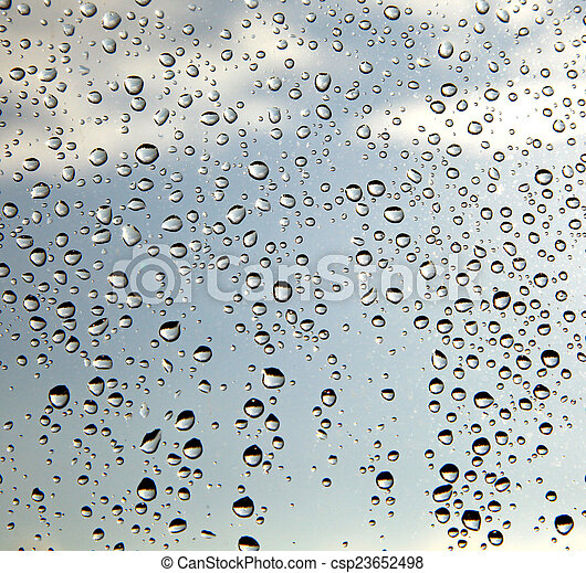 Drops on glass - csp23652498