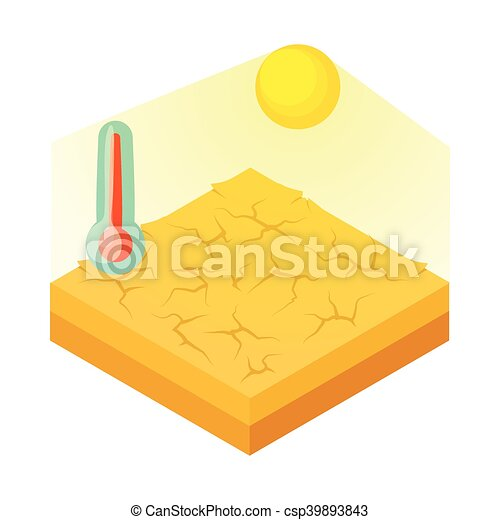 Drought icon in cartoon style - csp39893843