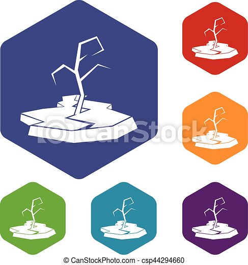 Drought icons set - csp44294660
