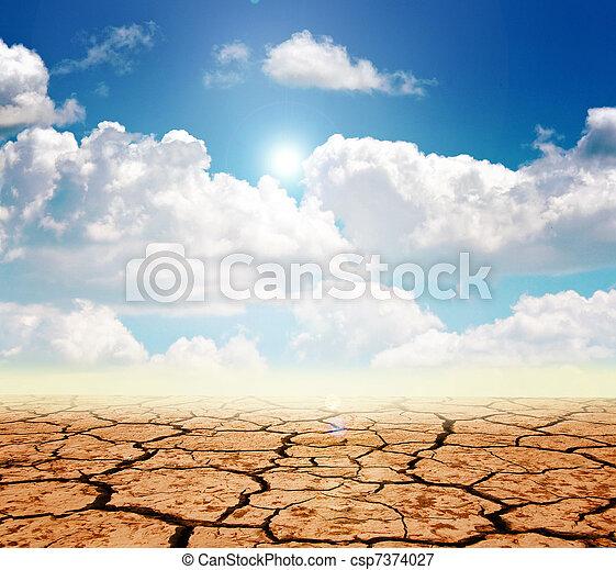Drought land - csp7374027