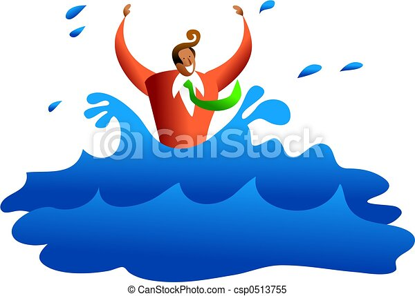 drowning business ethnic business man drowning in the water rh canstockphoto com drowning clipart drowning clipart black and white