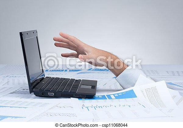 Drowning in paperwork - bureaucracy - csp11068044