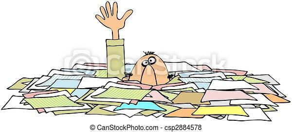 Drowning In Paperwork - csp2884578