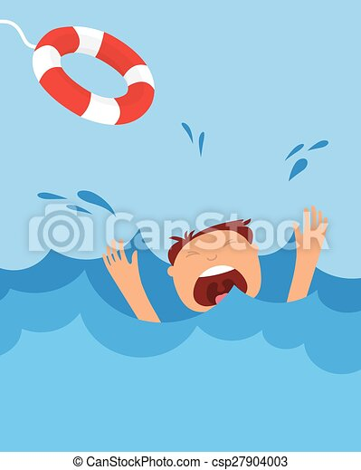 drowning man screaming for help summer danger drowning man rh canstockphoto com drowning clipart drowning clipart
