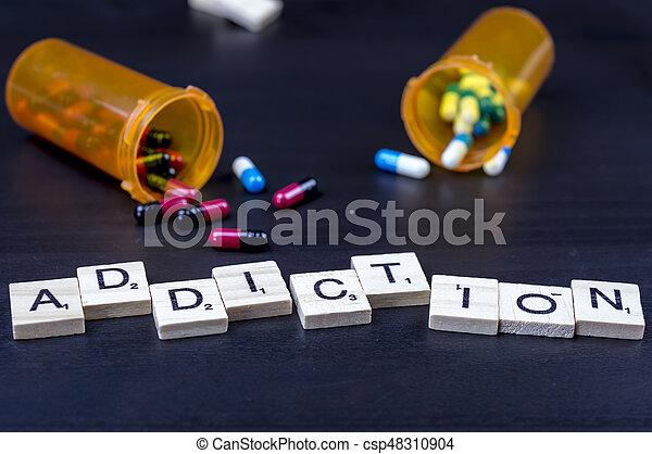 Drug addiction concept - csp48310904