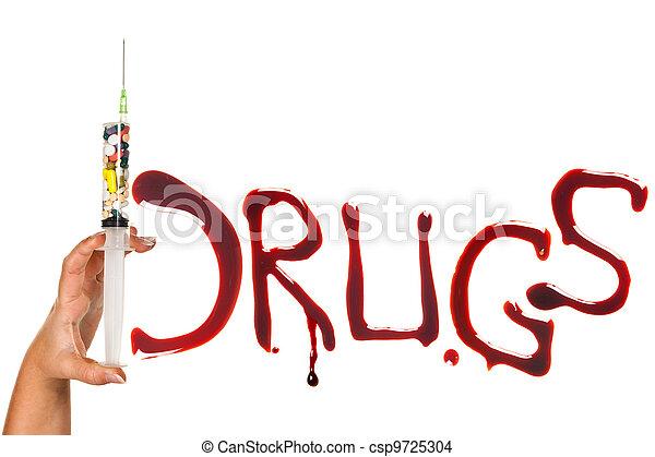 Drug addiction - csp9725304