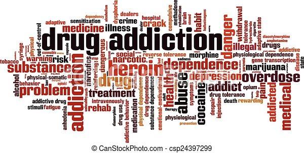 Drug addiction word cloud - csp24397299