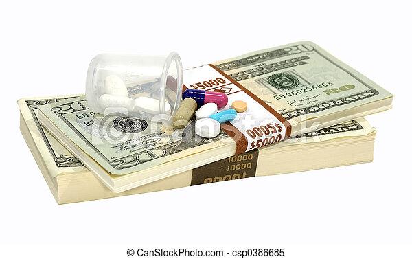 Drug Costs - csp0386685