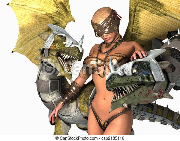 druid, twee, draken - csp2185116