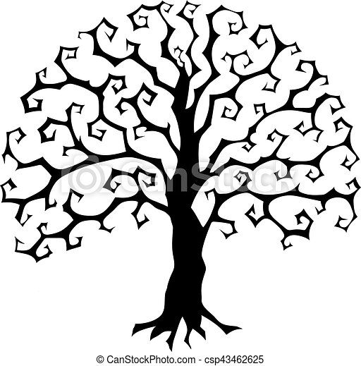 druidic yggdrasil tree round gothic logo halloween style vector rh canstockphoto com american gothic clipart gothic frame clipart