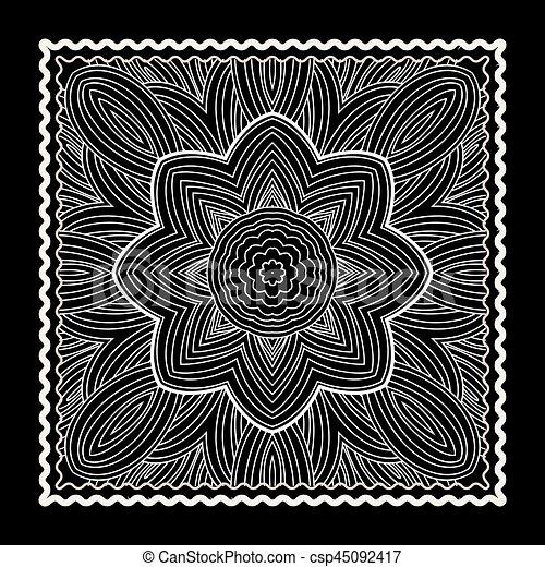 druk, bandana, czarnoskóry - csp45092417