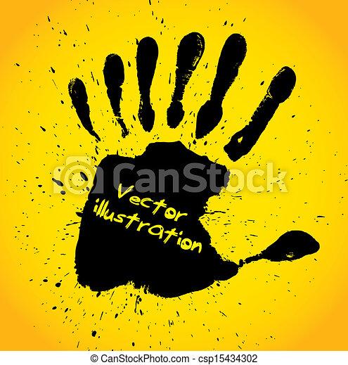 druk, siódemka, palce, ręka - csp15434302