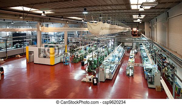drukken, industriebedrijven, bezig met afdrukken van, printshop:, flexo - csp9620234