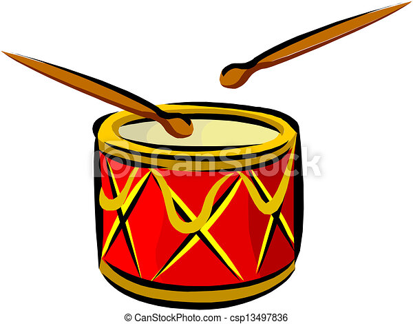 Drum And Drumsticks Vector