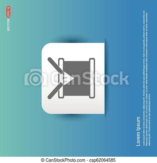 drum Icon - Blue Sticker button - csp62064585
