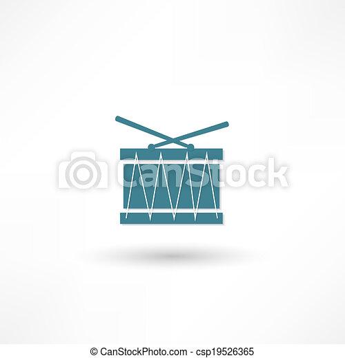 Drum icon - csp19526365