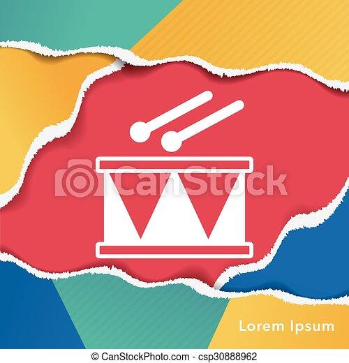 drum icon - csp30888962