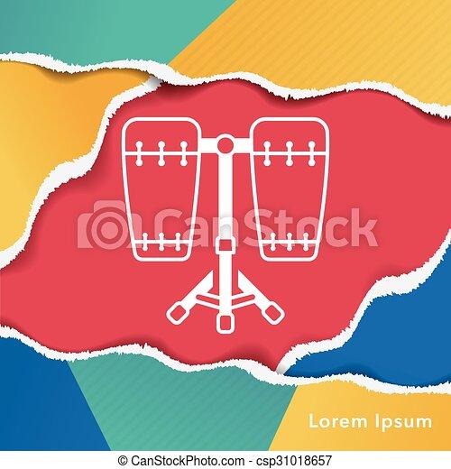 drum icon - csp31018657