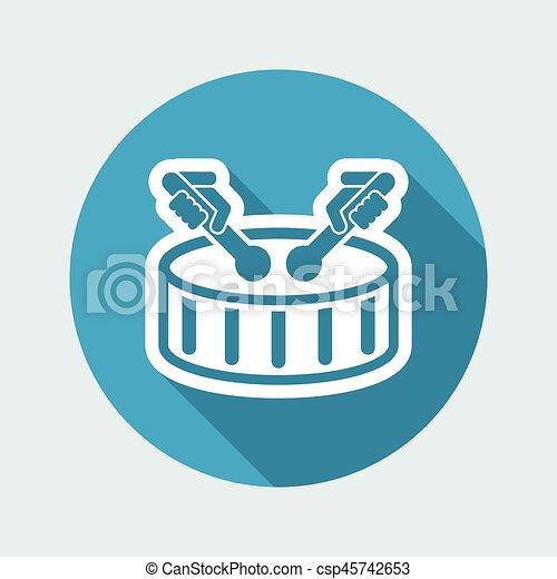 Drum icon - csp45742653