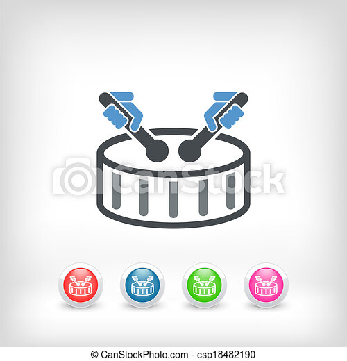 Drum icon - csp18482190