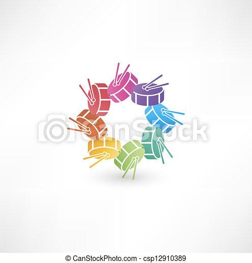 Drum icon - csp12910389