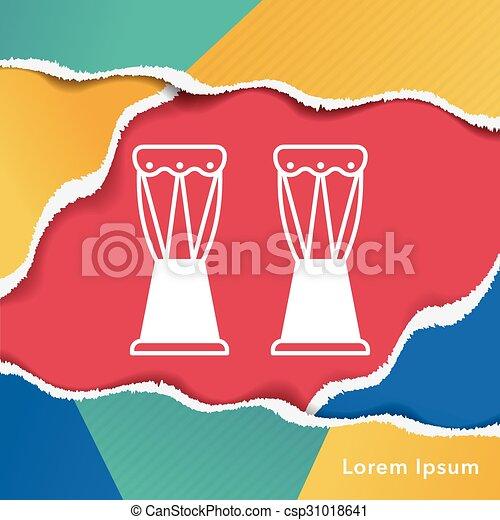 drum icon - csp31018641