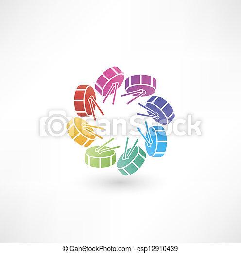 Drum icon - csp12910439