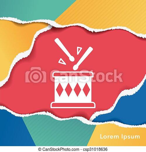 drum icon - csp31018636