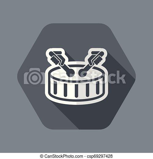 Drum icon - csp69297428