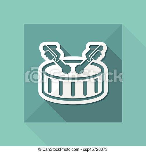 Drum icon - csp45728073